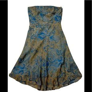 BNWT Morrell Maxie Strapless Silk Dress 12